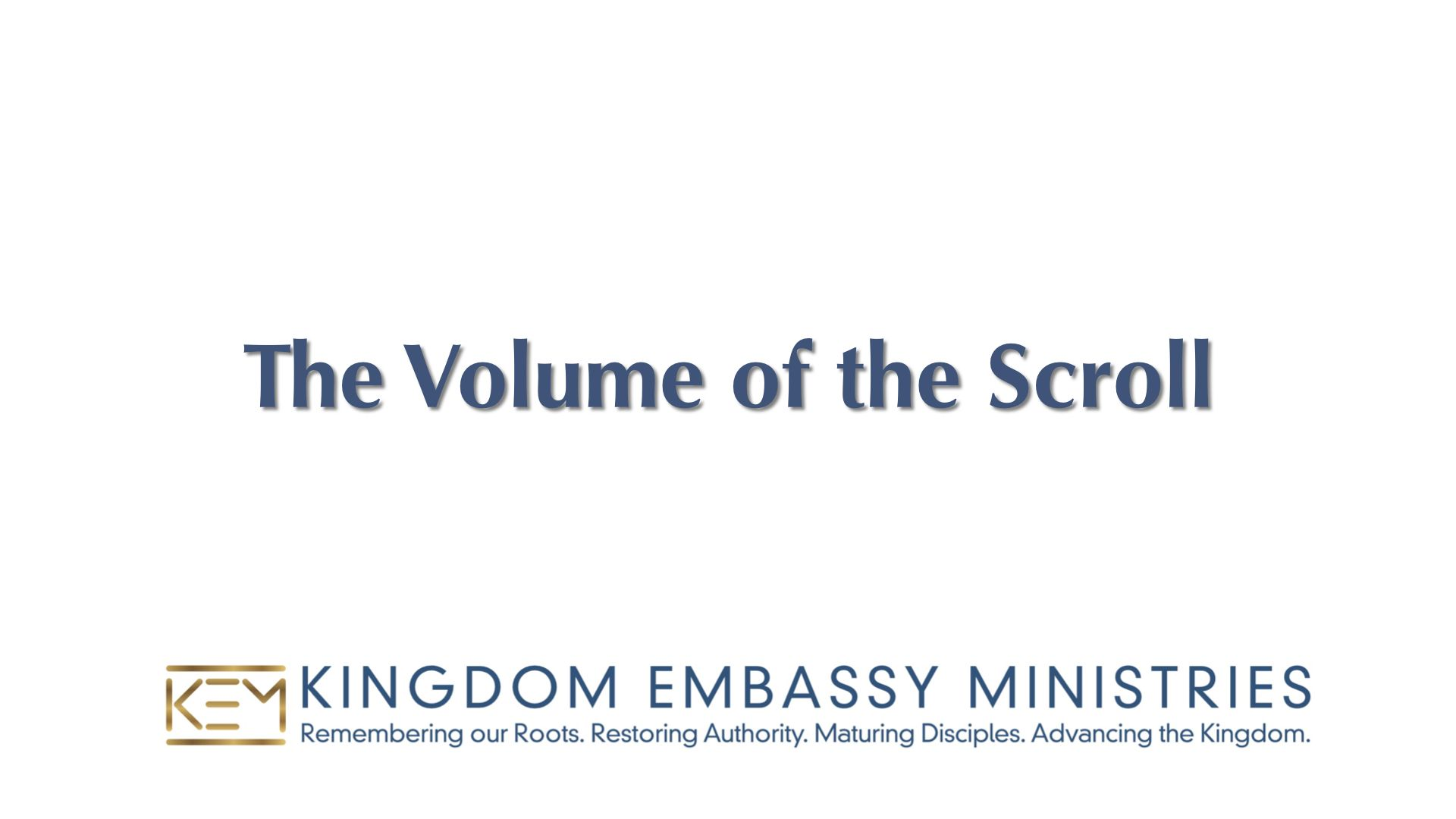 Exodus 25-27 | The Volume of the Scroll
