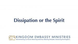 Numbers 30-36 | Dissipation or the Spirit